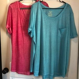 Super cute and comfy pink and blue tops